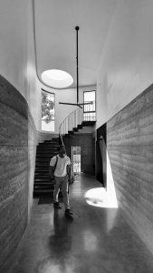 architecture buck and simple peter ahern entry stair light skylight rammed earth passive design