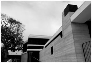 Australian Architecture Rammed earth timber cladding chimney