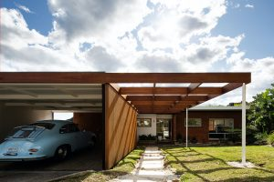 seaforth architecture buck and simple porsche 356 timber screen house