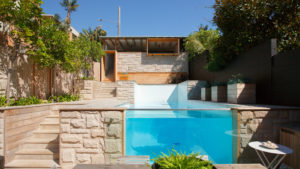 Manly house architecture buck and simple pool
