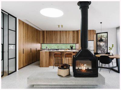 fitzroy north architecture house design modern kitchen bathroom fireplace