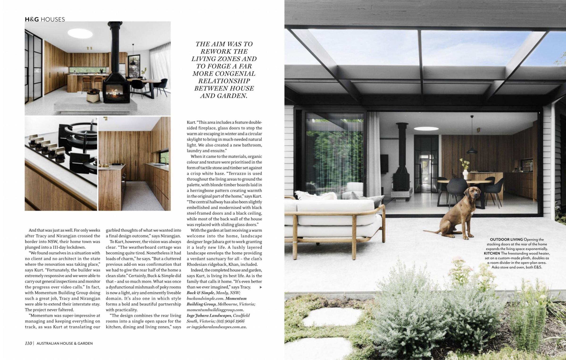 Australian House and Garden Architecture buckandsimple design house fitzroy kitchen bathroom renovation