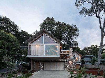 wagstaffe house modern barn coastal architecture truss brick timber buckandsimple
